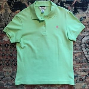 Lily Pulitzer Lime Green Shrunken Polo XS